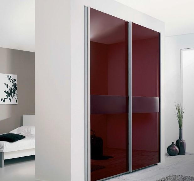 drzwi szklane w garderobie