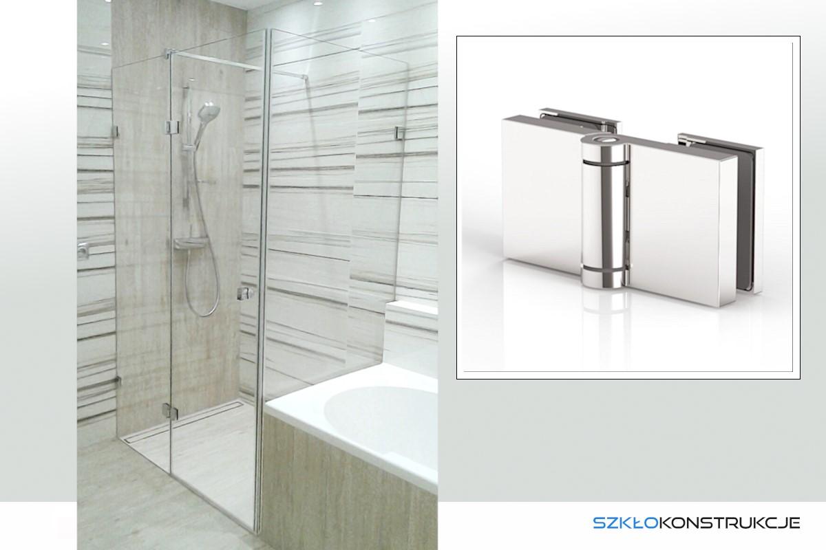 kabina prysznicowa ze szkła przy wannie