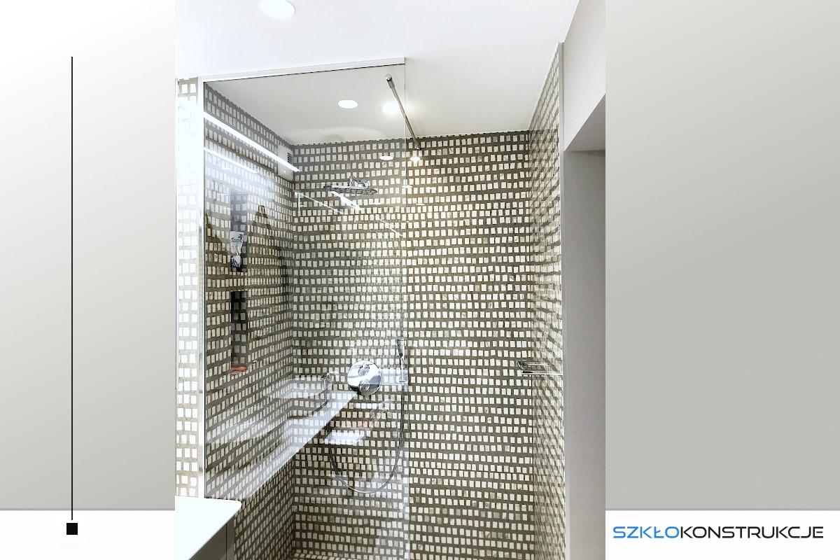 ścianka prysznicowa w ramce