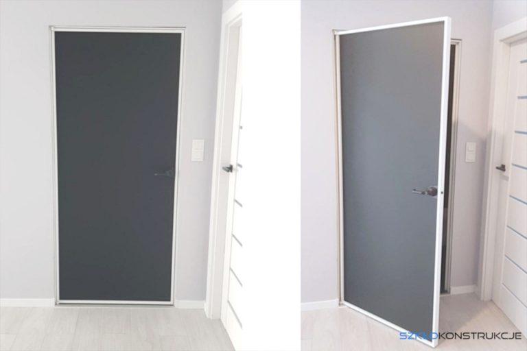 drzwi szklane w aluminiowej ramie