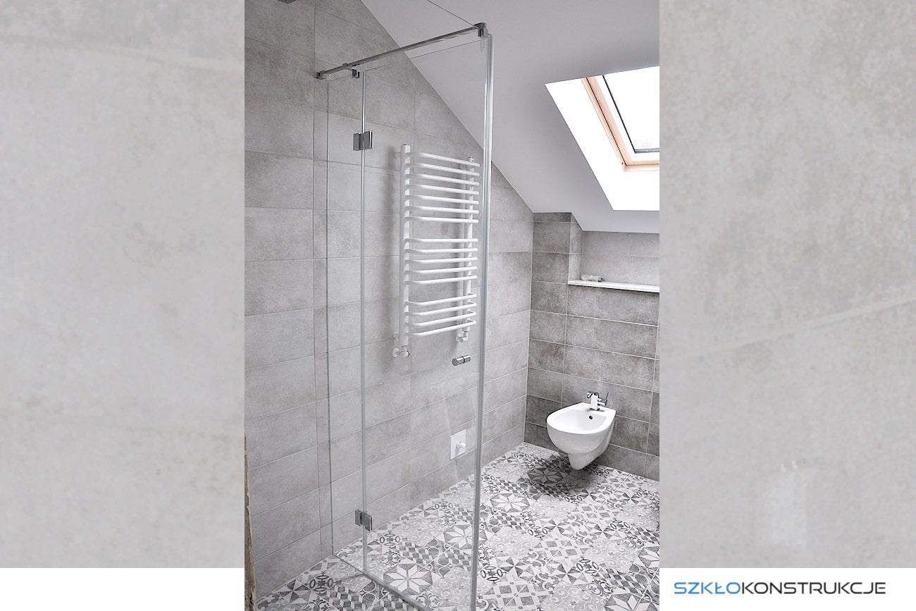 kabina prysznicowa ze szkła . Narożna