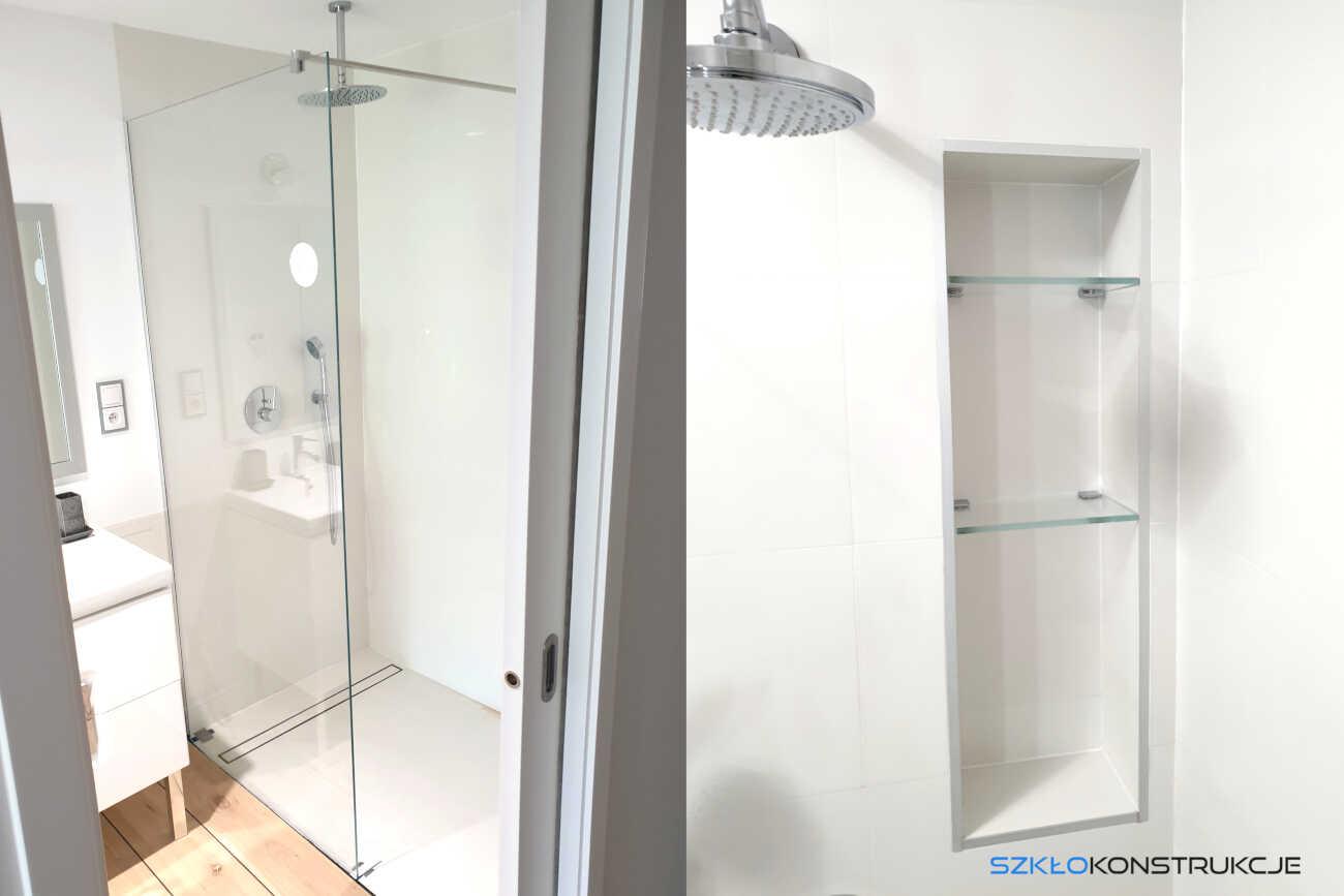 szklana ścianka prysznicowa typu Walk in